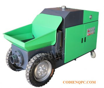 Máy bơm bê tông mini động cơ diesel
